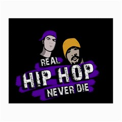 Real Hip Hop Never Die Small Glasses Cloth (2 Side) by Valentinaart