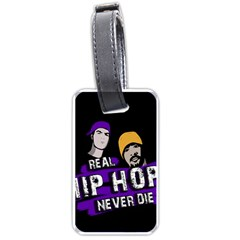 Real Hip Hop Never Die Luggage Tags (two Sides) by Valentinaart