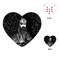 Attila The Hun Playing Cards (heart)  by Valentinaart