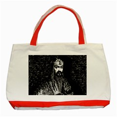 Attila The Hun Classic Tote Bag (red) by Valentinaart