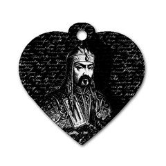 Attila The Hun Dog Tag Heart (one Side) by Valentinaart