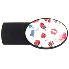 Hand Painted Summer Background  Usb Flash Drive Oval (4 Gb) by TastefulDesigns