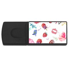 Hand Painted Summer Background  Usb Flash Drive Rectangular (4 Gb) by TastefulDesigns