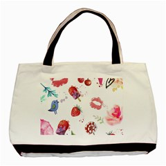 Hand Painted Summer Background  Basic Tote Bag (two Sides) by TastefulDesigns