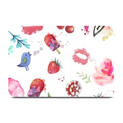 Hand Painted Summer Background  Plate Mats by TastefulDesigns
