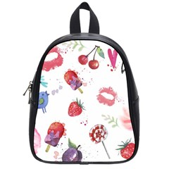 Hand Painted Summer Background  School Bags (small)  by TastefulDesigns