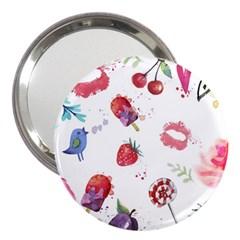 Hand Painted Summer Background  3  Handbag Mirrors by TastefulDesigns