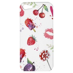 Hand Painted Summer Background  Apple Iphone 5 Hardshell Case by TastefulDesigns