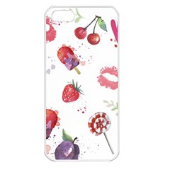 Hand Painted Summer Background  Apple Iphone 5 Seamless Case (white) by TastefulDesigns