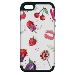 Hand Painted Summer Background  Apple Iphone 5 Hardshell Case (pc+silicone) by TastefulDesigns