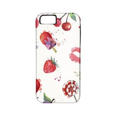 Hand Painted Summer Background  Apple Iphone 5 Classic Hardshell Case (pc+silicone) by TastefulDesigns