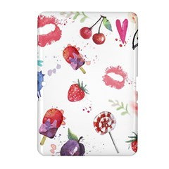 Hand Painted Summer Background  Samsung Galaxy Tab 2 (10 1 ) P5100 Hardshell Case  by TastefulDesigns