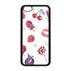 Hand Painted Summer Background  Apple Iphone 5c Seamless Case (black) by TastefulDesigns