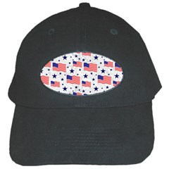 Flag Of The Usa Pattern Black Cap by EDDArt