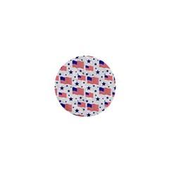 Flag Of The Usa Pattern 1  Mini Buttons by EDDArt