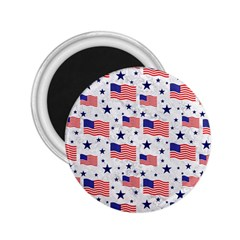 Flag Of The Usa Pattern 2 25  Magnets by EDDArt