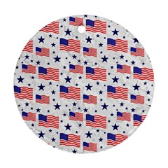 Flag Of The Usa Pattern Ornament (round) by EDDArt