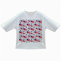 Flag Of The Usa Pattern Infant/toddler T Shirts by EDDArt