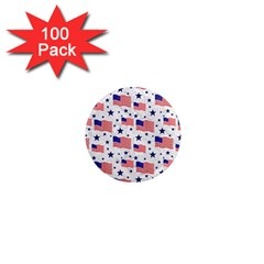 Flag Of The Usa Pattern 1  Mini Magnets (100 Pack)  by EDDArt