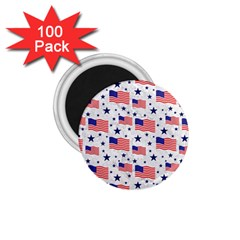 Flag Of The Usa Pattern 1 75  Magnets (100 Pack)  by EDDArt