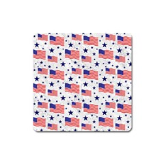 Flag Of The Usa Pattern Square Magnet by EDDArt