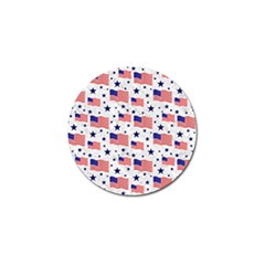 Flag Of The Usa Pattern Golf Ball Marker by EDDArt