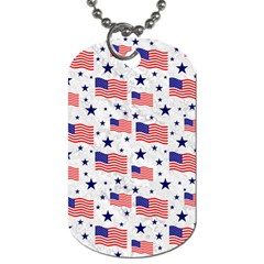 Flag Of The Usa Pattern Dog Tag (two Sides) by EDDArt