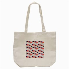 Flag Of The Usa Pattern Tote Bag (cream) by EDDArt