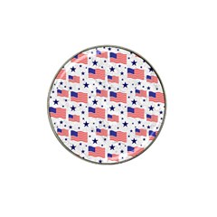 Flag Of The Usa Pattern Hat Clip Ball Marker (4 Pack) by EDDArt
