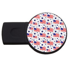 Flag Of The Usa Pattern Usb Flash Drive Round (4 Gb) by EDDArt