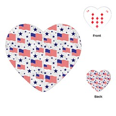 Flag Of The Usa Pattern Playing Cards (heart)  by EDDArt