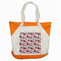 Flag Of The Usa Pattern Accent Tote Bag by EDDArt