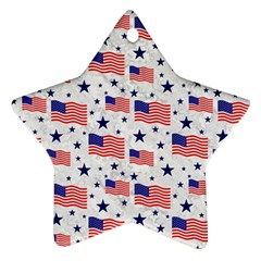 Flag Of The Usa Pattern Star Ornament (two Sides) by EDDArt