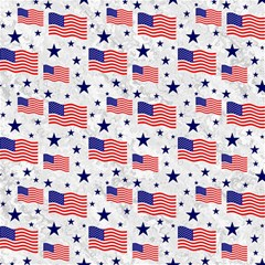 Flag Of The Usa Pattern Canvas 16  X 16   by EDDArt