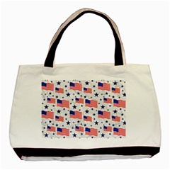 Flag Of The Usa Pattern Basic Tote Bag (two Sides) by EDDArt