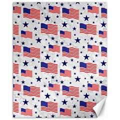Flag Of The Usa Pattern Canvas 11  X 14   by EDDArt