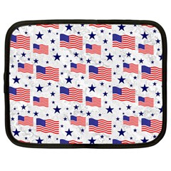 Flag Of The Usa Pattern Netbook Case (large) by EDDArt