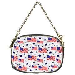 Flag Of The Usa Pattern Chain Purses (one Side)  by EDDArt