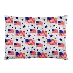Flag Of The Usa Pattern Pillow Case by EDDArt