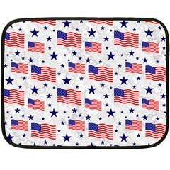 Flag Of The Usa Pattern Fleece Blanket (mini) by EDDArt