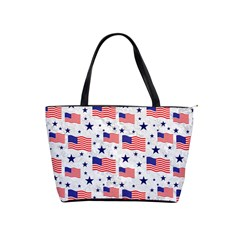 Flag Of The Usa Pattern Shoulder Handbags by EDDArt