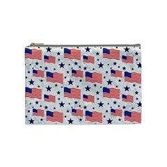 Flag Of The Usa Pattern Cosmetic Bag (medium)  by EDDArt