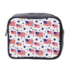 Flag Of The Usa Pattern Mini Toiletries Bag 2 Side by EDDArt