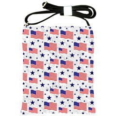 Flag Of The Usa Pattern Shoulder Sling Bags by EDDArt