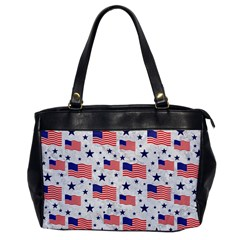 Flag Of The Usa Pattern Office Handbags by EDDArt