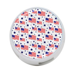 Flag Of The Usa Pattern 4 Port Usb Hub (two Sides)  by EDDArt