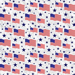Flag Of The Usa Pattern Magic Photo Cubes by EDDArt