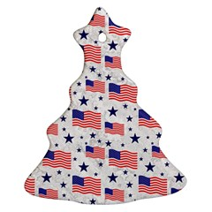 Flag Of The Usa Pattern Christmas Tree Ornament (two Sides) by EDDArt