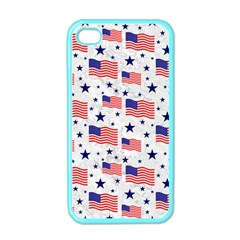 Flag Of The Usa Pattern Apple Iphone 4 Case (color) by EDDArt