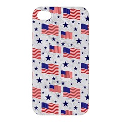Flag Of The Usa Pattern Apple Iphone 4/4s Hardshell Case by EDDArt